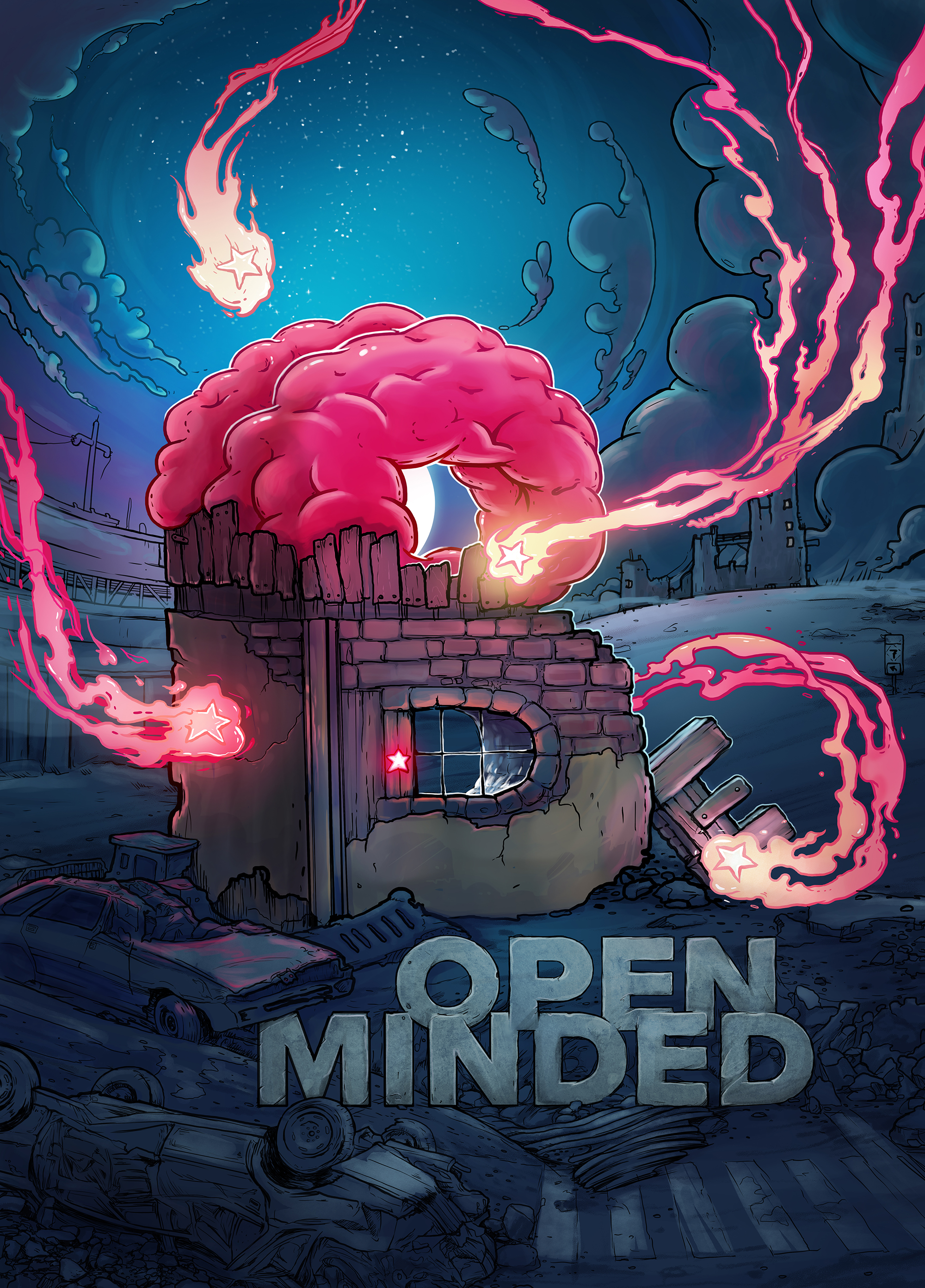 "Plakat ""be open minded"""