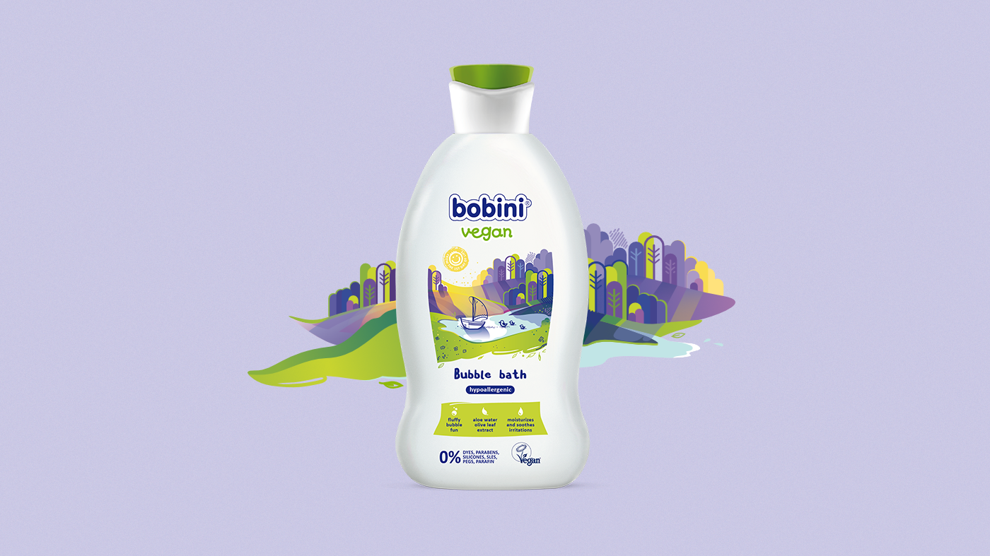 bobini vegan - label design
